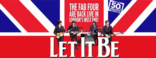 Opplev Let It Be the Musical live i Londons West End! Musikalen er fullspekket med over 40 av The Beatles' største hits. Bestill billetter på nettet!