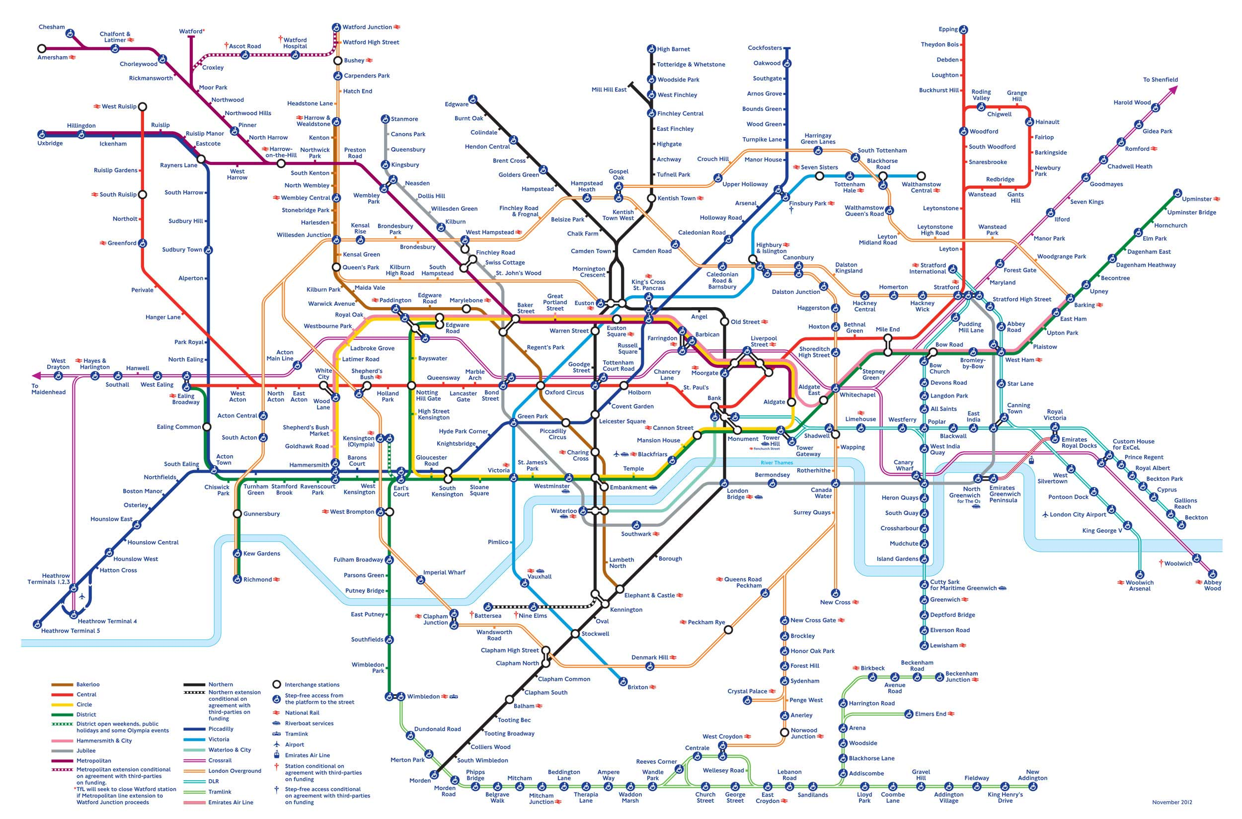 printable tube london underground map