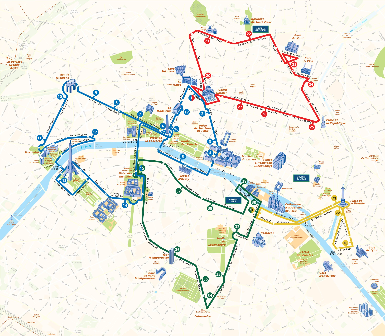 Karte Paris.Hop On Hop Off Paris