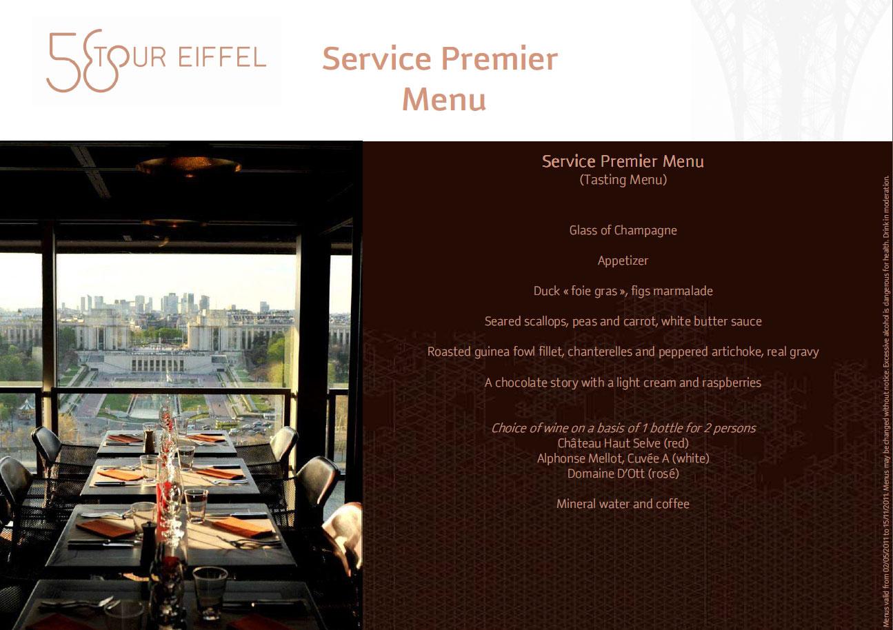 U ijte si ve e i v restauraci 58 na eiffelov v i l stky zde - Restaurant le 58 tour eiffel ...