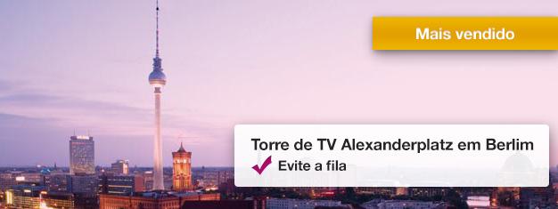 Evite as filas para a icônica Torre de TV em Berlim! Aproveite a vista panorâmica de360 graus a 207 metros acima da cidade. Reserve seus tickets hoje!